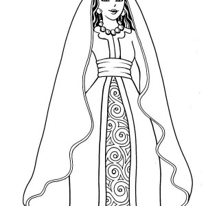 queen esther on her throne coloring page kids play color