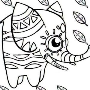 elephant shaped pinata coloring page