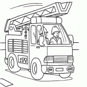 fireman picture coloring page kids play color