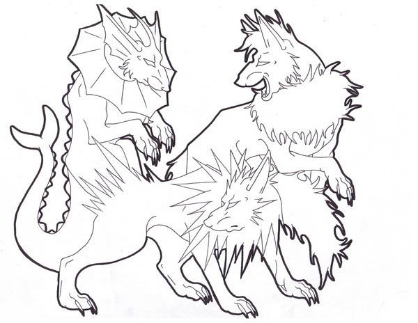 Jolteon, : Flareon and Vaporeon and Jolteon Coloring Page