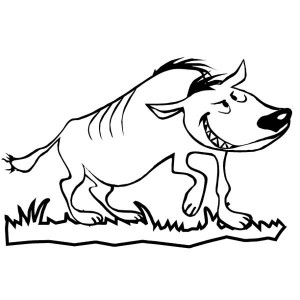 funny hyena coloring page