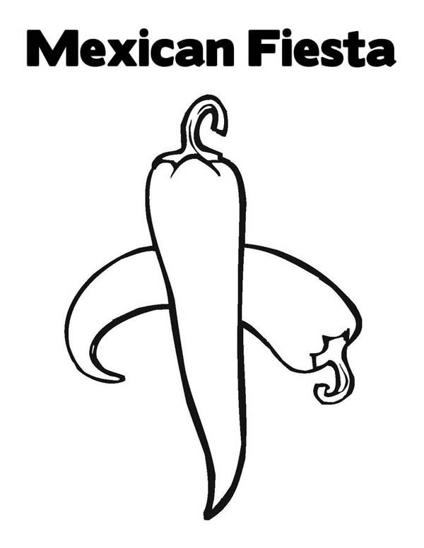 Mexican Fiesta, : Hot and Spicy at Mexican Fiesta Coloring Page