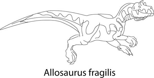 Allosaurus, : How to Draw Allosaurus Coloring Page
