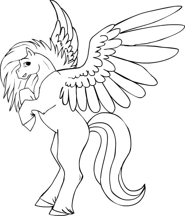 Pegasus, : How to Draw Pegasus Coloring Page