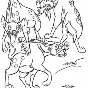 hungry hyena coloring page