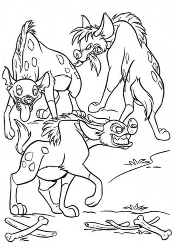 Hyena, : Hungry Hyena Coloring Page