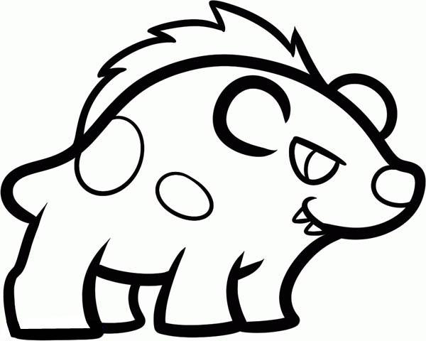 Hyena, : Hyena Drawing Coloring Page