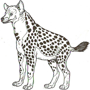 hyena look like zebra coloring page