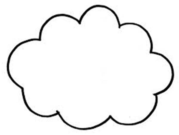 Clouds, : Image of a Clouds Coloring Page