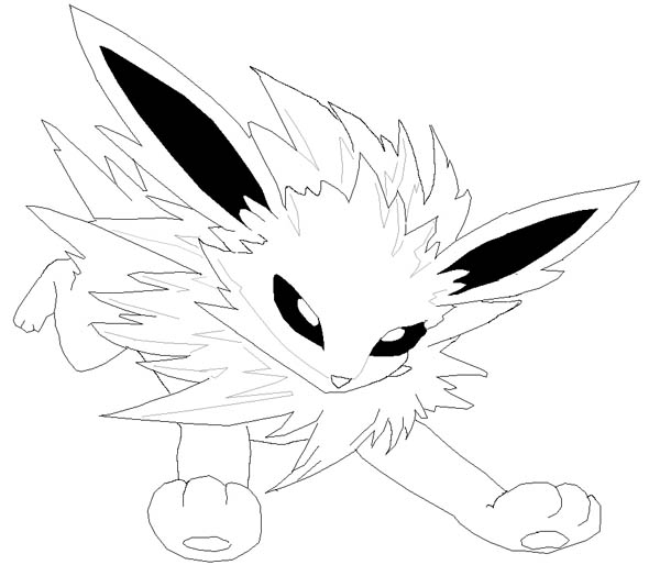 Jolteon, : Jolteon Little Pokemon Coloring Page