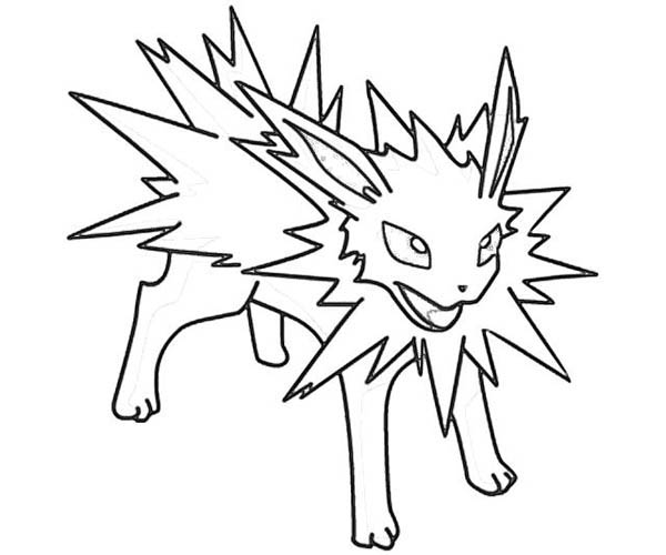 Jolteon, : Jolteon The Ultimate Test Coloring Page