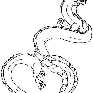 King Sea Monster Coloring Page