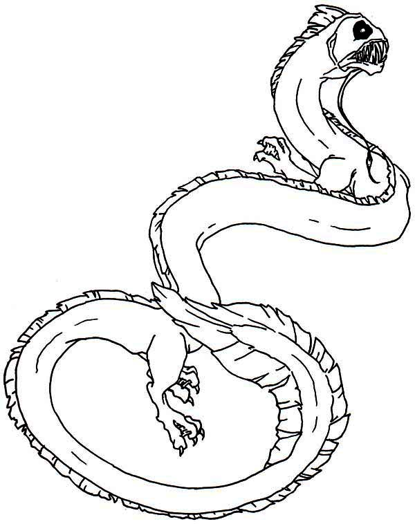 Sea Monster, : King Sea Sea Monster Coloring Page