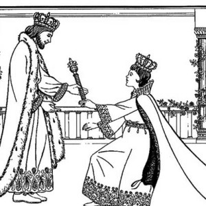king xerxes i queen esther coloring page