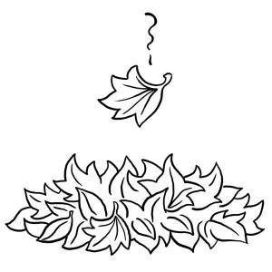 maple leaf falling from tree coloring page maple leaf falling from