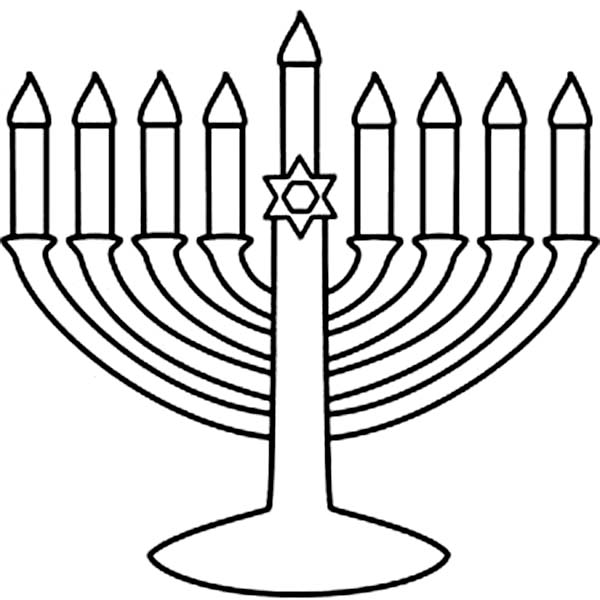 Menorah Coloring Page Coloring Coloring Pages