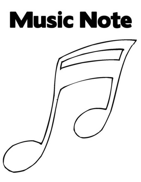 Music Notes, : Music Notes for Song Coloring Page
