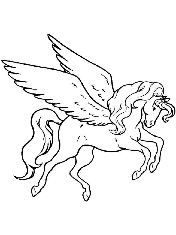 Pegasus, : Pegasus Image Coloring Page