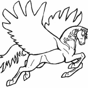 pegasus spread his wing coloring page - Coloring Pages Unicorn Wings