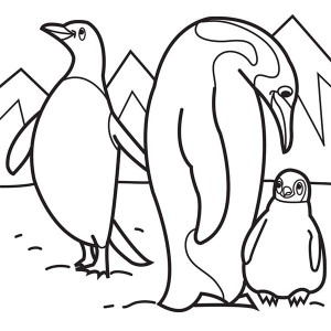Baby Penguin Coloring Pages A Very Cute Baby Penguin Ready To Cry