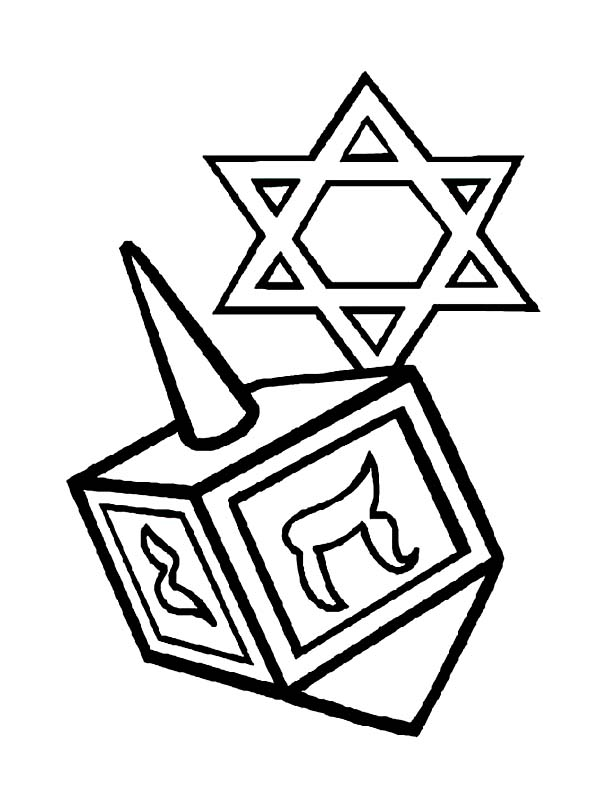 Chanukah, : Picture of Chanukah Coloring Page