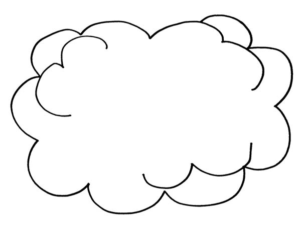 Clouds, : Picture of Clouds Coloring Page