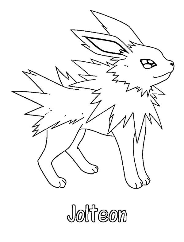 Jolteon, : Picture of Jolteon Coloring Page