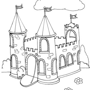 Awesome Drawing Medieval Castle Coloring Page  Kids Play Color