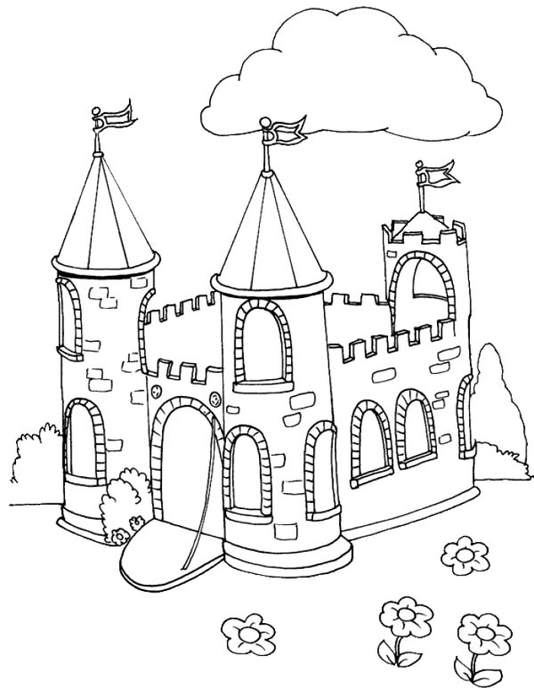 Picture of Medieval Castle Coloring Page | Kids Play Color