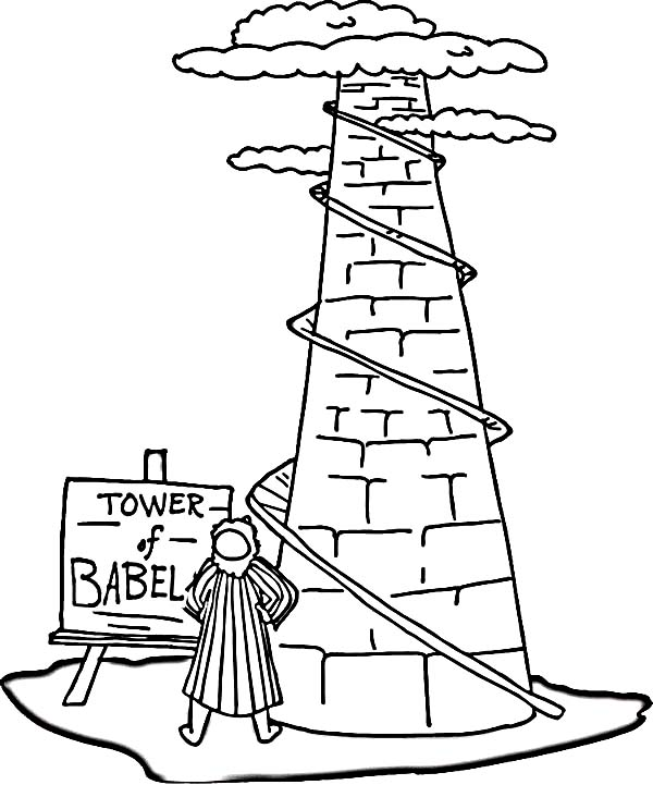Tower of Babel, : Picture of Tower of Babel Coloring Page