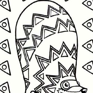 racoon shaped pinata coloring page