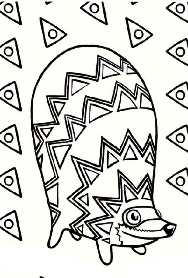 Pinata, : Racoon Shaped Pinata Coloring Page