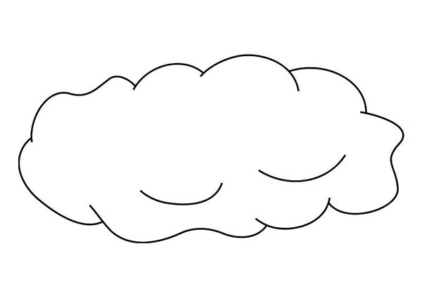 Clouds, : The Clouds is Sleeping Coloring Page