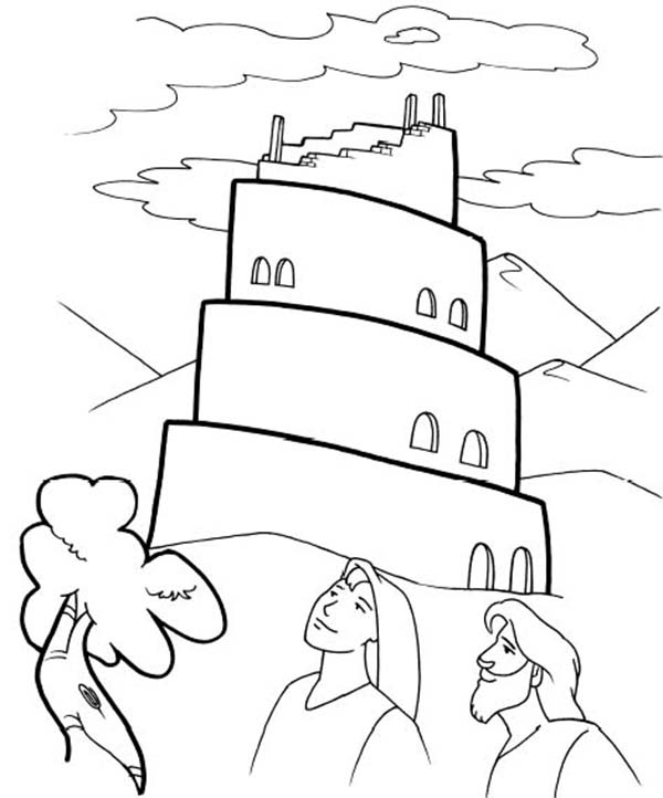 Tower of Babel, : Tower of Babel Coloring Page