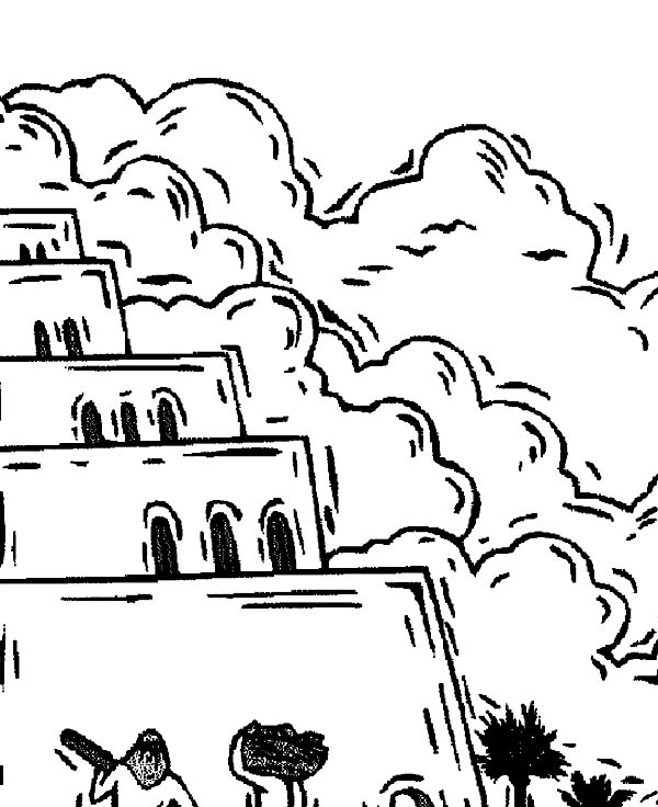 Tower of Babel, : Tower of Babel Reach the Sky Coloring Page