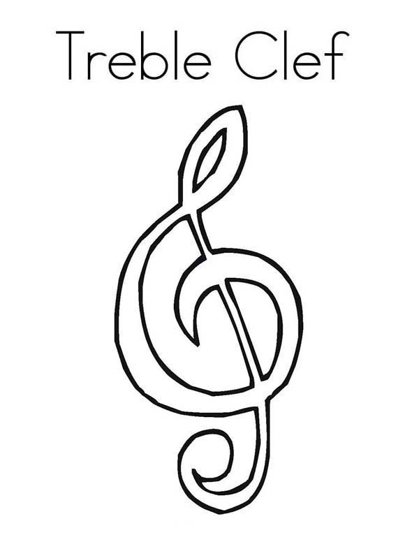 free treble clef music notes coloring page with musical notes coloring pages