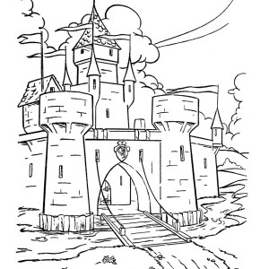 Abandoned Medieval Castle Coloring Page Abandoned Medieval Castle
