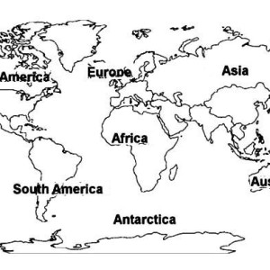 on africa continent in world map coloring page - World Map Coloring Page