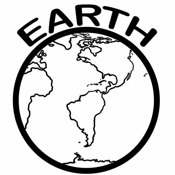 Earth Day, : A Healthy Planet on Earth Day Coloring Page