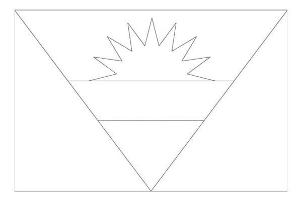 Nation Flag, : Antigua Barbuda Nation Flag Coloring Page