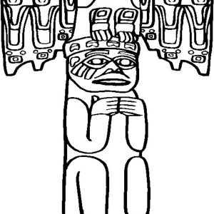 awesome carved totem poles coloring page