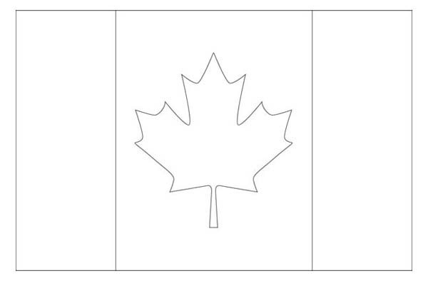 Nation Flag, : Canada Nation Flag Coloring Page