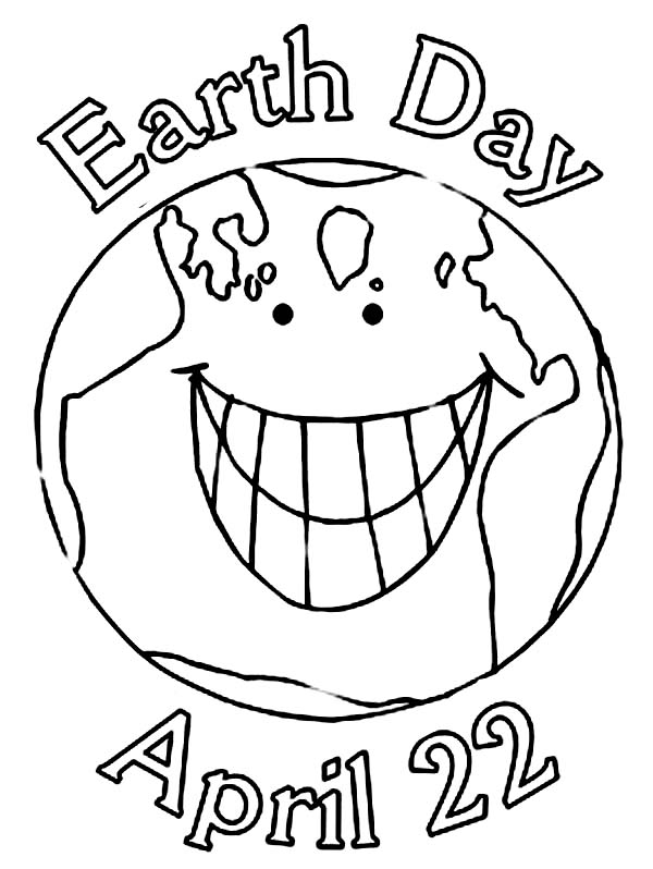 Earth Day, : Celebrating Earth Day on Aprill 22nd Coloring Page