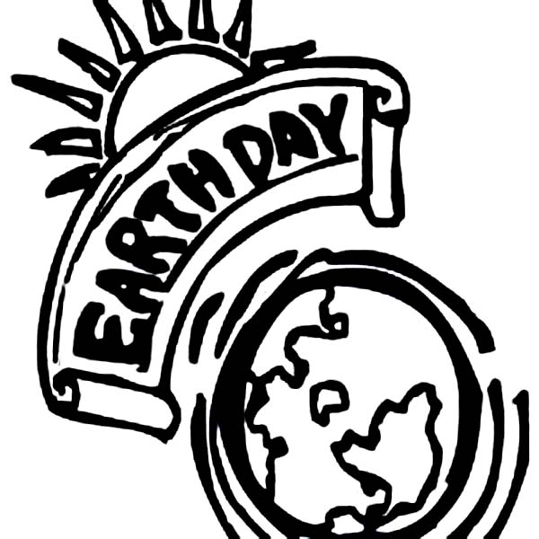 Earth Day, : Earth Day Campaign Poster Coloring Page