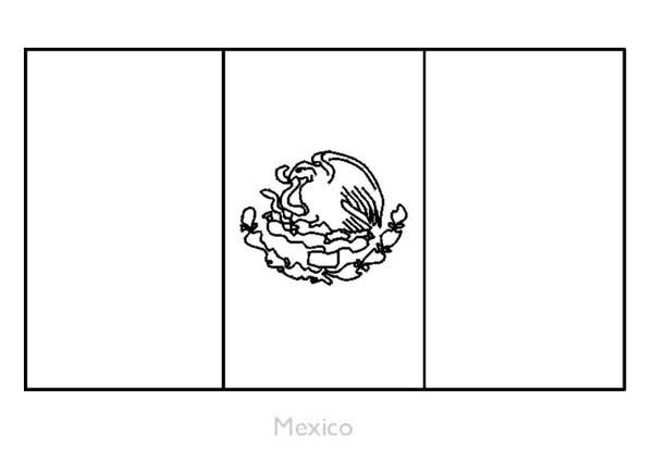 Nation Flag, : Mexican Nation Flag Coloring Page