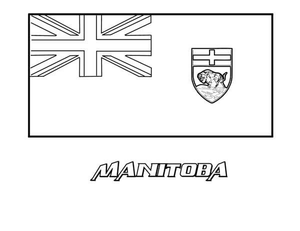 Nation Flag, : Nation Flag of Manitoba Coloring Page