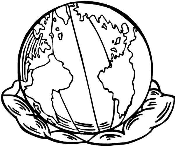 Earth Day, : Our Earth on Earth Day Coloring Page