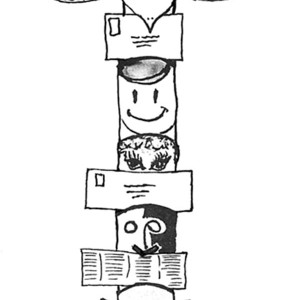 picture of totem poles coloring page - Totem Pole Animals Coloring Pages