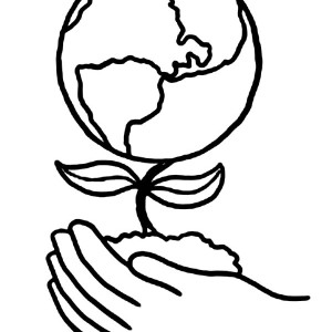 Planting A Healthier Earth On Day Coloring Page