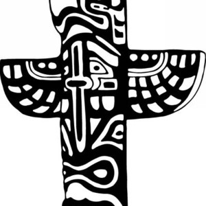 totem poles tribal nation symbols coloring page